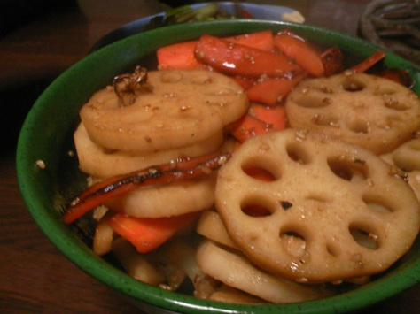 lotus-root-kimpira