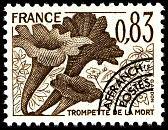 timbres-gastronomie-champignons-trompette