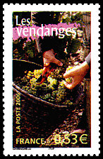 timbres-vendanges
