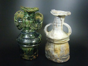 yamada-kazu-oribe-and-iga-vases