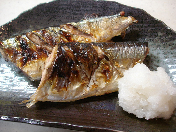 fish salt grilled pacific japanese style grilled sanma japanese style ...