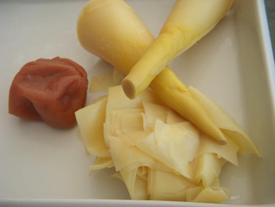 pickled bamboo vegan japanese cuisine bamboo shoots tips umeboshi shizuoka