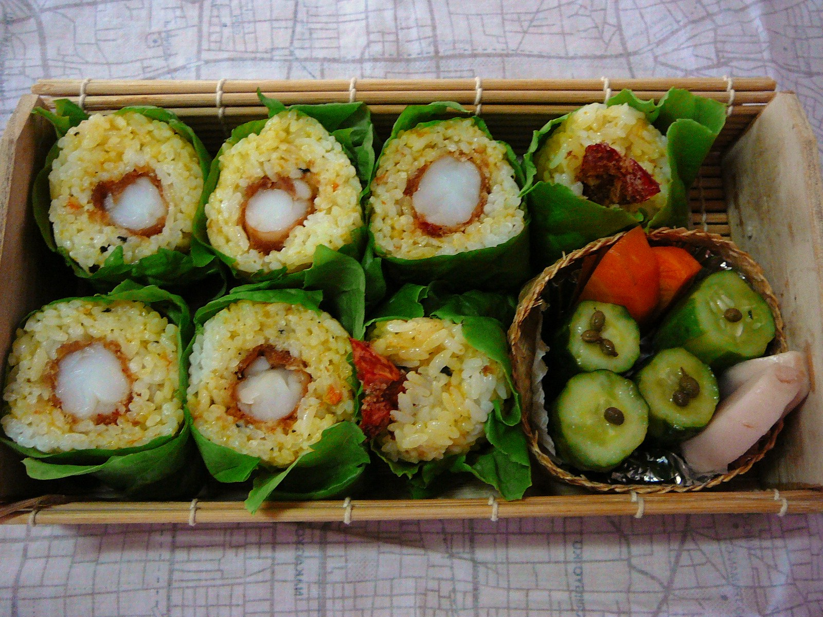 today s lunch box bento 10 55 indian sushi bento shizuoka gourmet. Black Bedroom Furniture Sets. Home Design Ideas