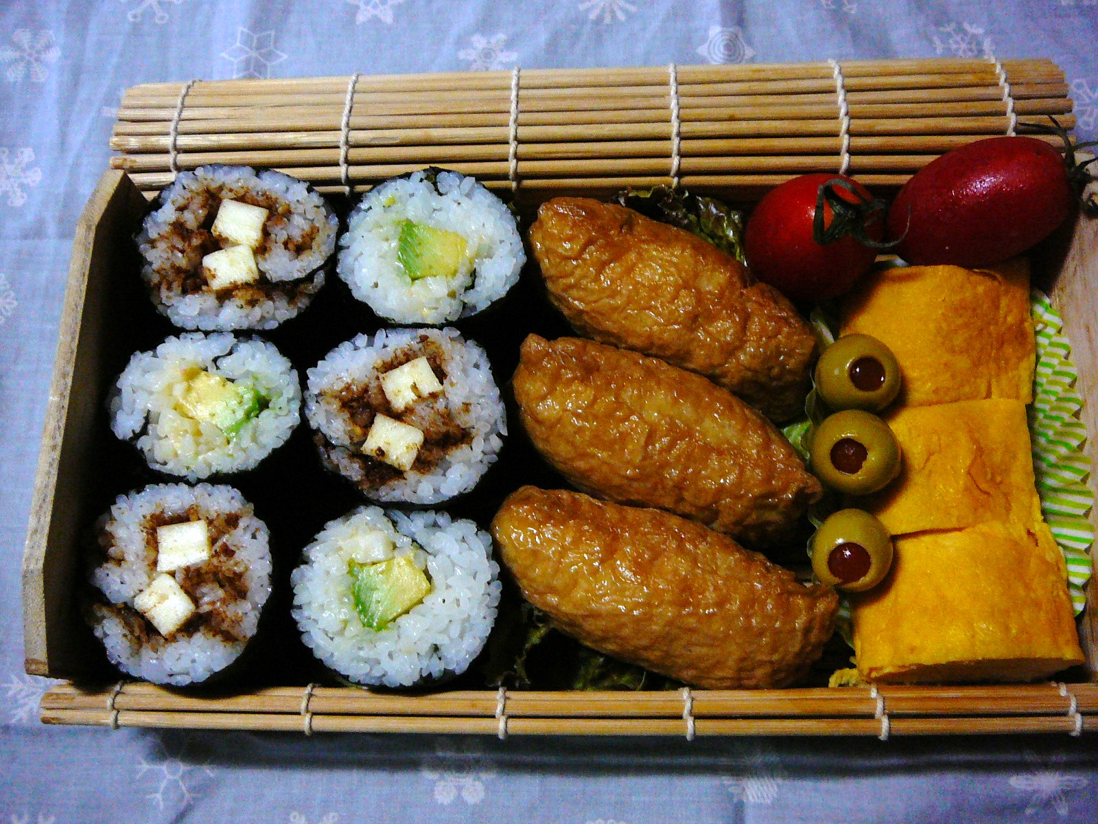 today s lunch box bento 10 70 fall rain sushi roll bento shizuoka gourmet. Black Bedroom Furniture Sets. Home Design Ideas