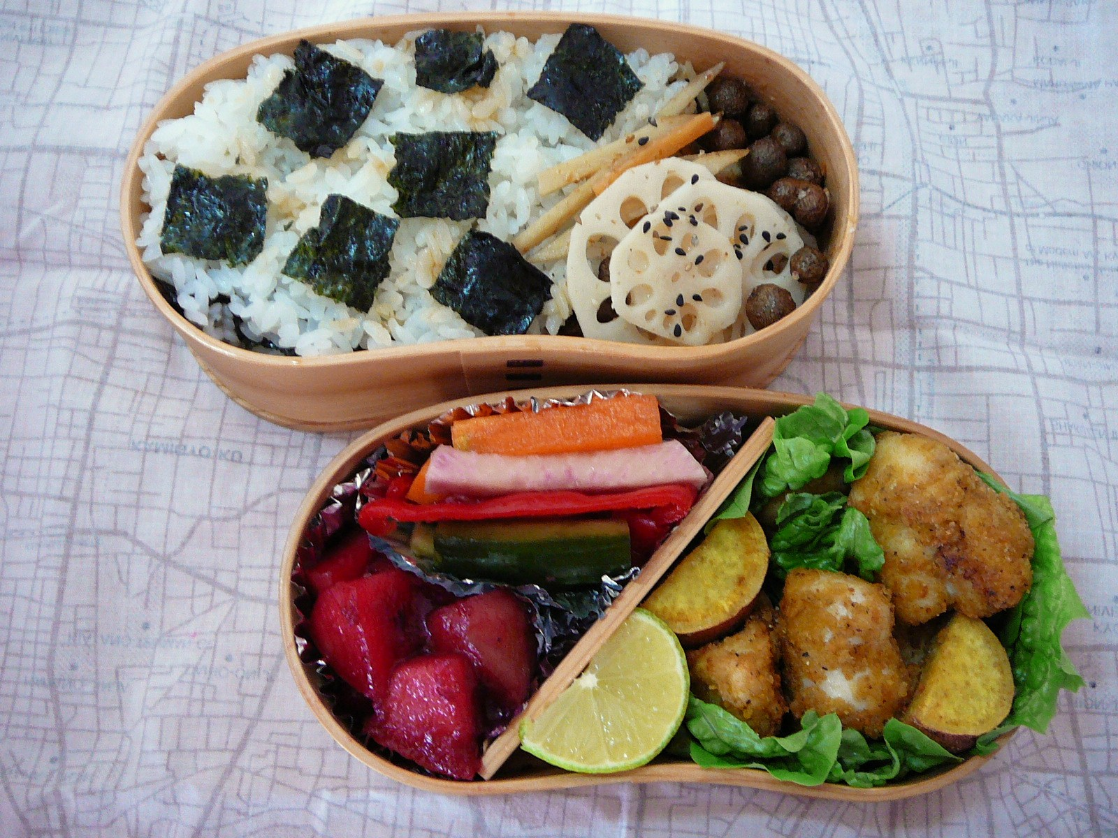 today s lunch box bento 10 78 back to work bento shizuoka gourmet. Black Bedroom Furniture Sets. Home Design Ideas