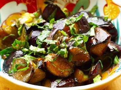 Vegan Japanese Recipe Eggplants Pan Fried With Basil And Amazu Shizuoka Gourmet