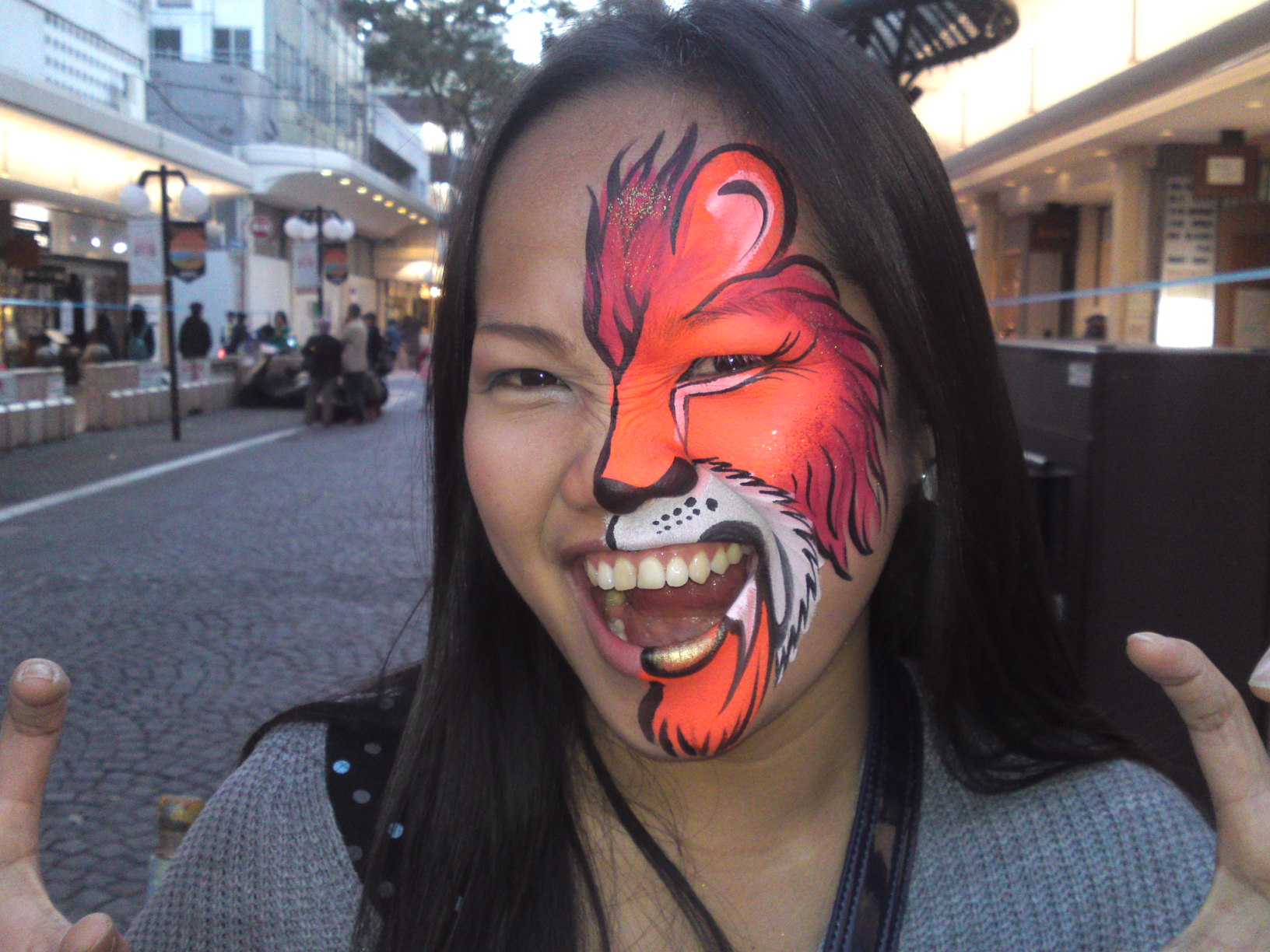 Simple Lion Face Paint Viewing Gallery