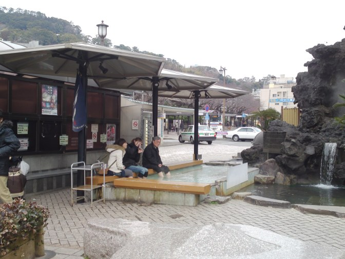 Public Foot Bath Hot Spring in Atami City!