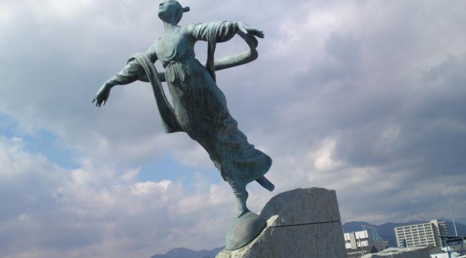 Hagoromo Legend Statue in Shimizu Ku, Shizuoka City!