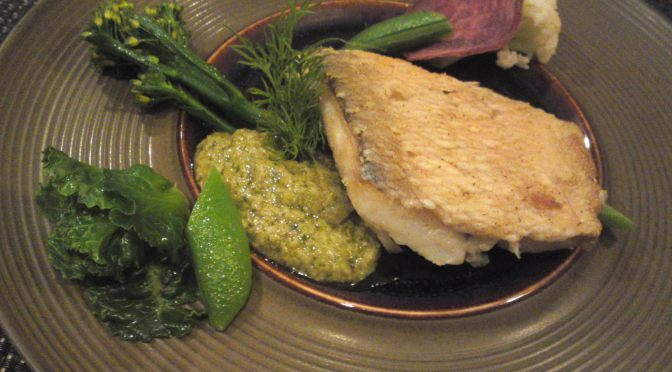 French Gastronomy: Pan-fried Seabream and Organic Spring Vegetables at Pissenlit in Shizuoka City!