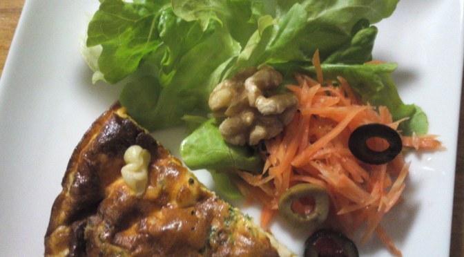 Japanese Appetizer (O-toushi/お通し): Cold Spanish Omelet & Salad!