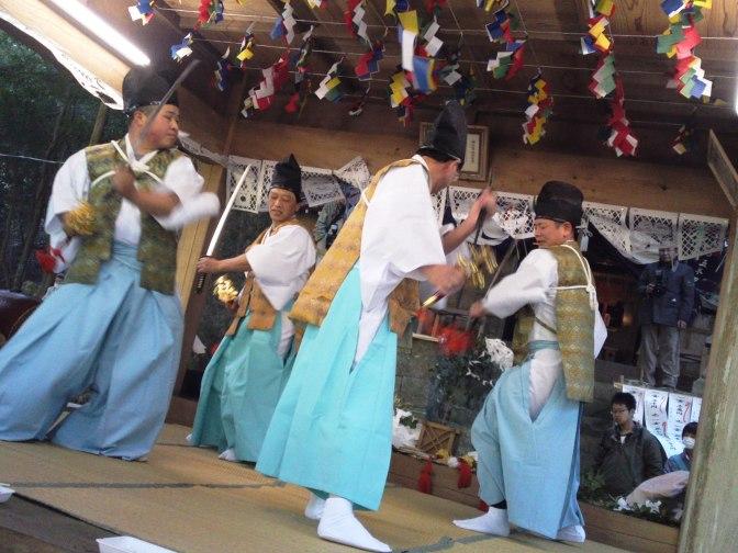 Utogi Kagura Spring Festival in Utogi, Shizuoka City, with the Wasabi & Tea Farmers!