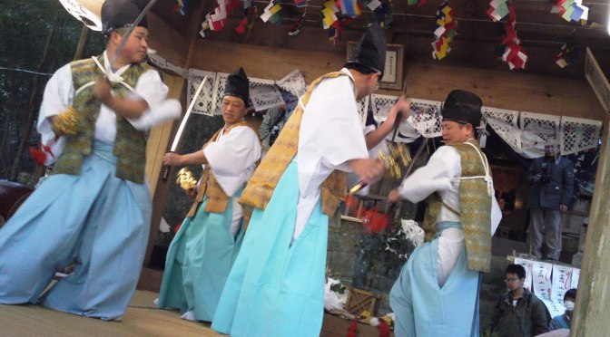 Utogi Kagura Spring Festival in Utogi, Shizuoka City, with the Wasabi & Tea Farmers!