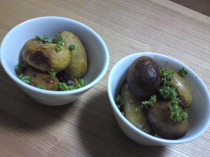 Japanese Appetizer (O-toushi/お通し): Slow-fried New Potatoes