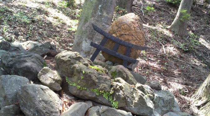 Aihama Shirahige Shrine (相俣白髭神社)-Thunder Stone (雷石) in Aihama, Aoi Ku, Shizuoka City!