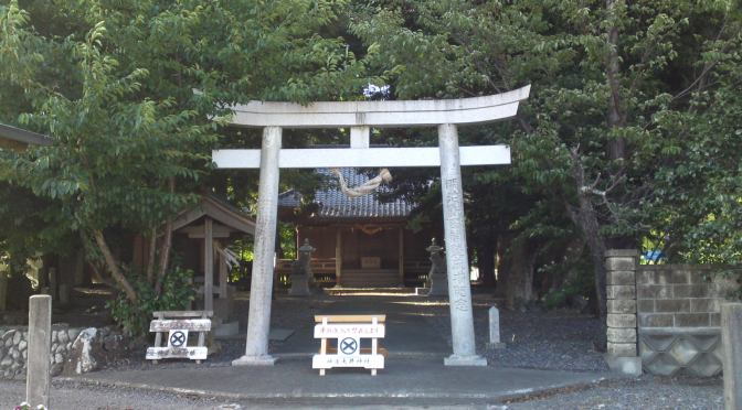 Kanza Ooi Shrine (神座大井神社) in Shimada City!