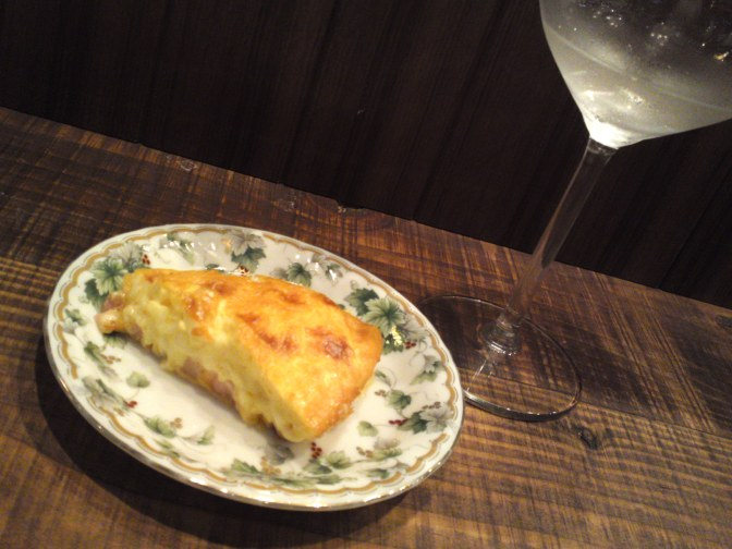 Quiche Lorraine & Eikun Brewery Tokubetsu Junmai at La Sommeliere Wine & Sake Bar in Shizuoka City!
