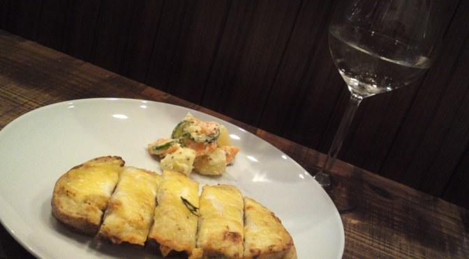 Croque-Monsieur & Sanwa Brewery Junmai Ginjo Hiyaoroshi at La Sommeliere Wine & Sake Bar in Shizuoka City!