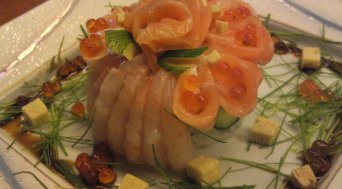 Sushi Design by Chef Kenta Birukawa at Sushi Ko in Shizuoka City: Seafood Sushi Millefeuille!