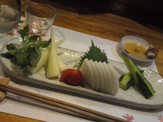 Vegan & Vegetarian Gastronomy: Vegetable Sashimi at Yasaitei in Shizuoka City!