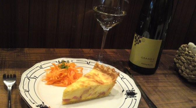 Quiche Lorraine & Alsace Riesling Wine at La Sommeliere in Shizuoka City!