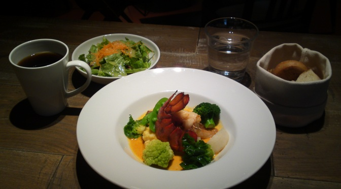 "American Gastronomy: ""Lobster & Tile Fish Nage"" at BLUE BOOKS CAFE in Shizuoka City!"