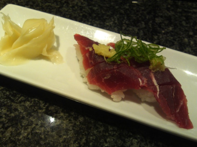 Sushi Restaurant: Whalemeat and others at Uogashi Sushi in Asty, Shizuoka City!