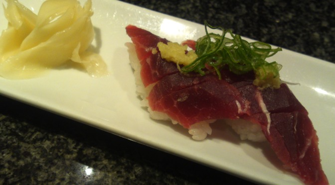 Sushi Restaurant: Whalemeat and others at Uogashi Sushi in Asty, Shizuoka City!