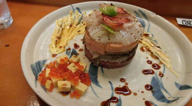 Sushi Art: Seared Sushi Millefeuille by Chef Kenta Birukawa at Sushi Ko in Shizuoka City!