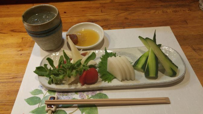 Vegan Japanese Gastronomy: Vegetable Sashimi Plate at Yasaitei in Shizuoka City!