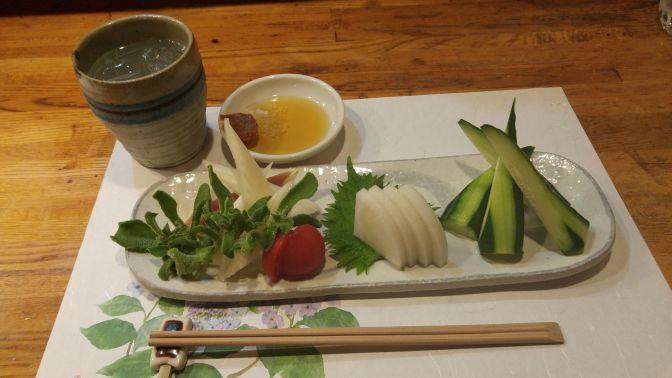 Vegan Japanese Gastronomy: Vegetable Sashimi Plate at Yasaitei in Shizuoka City!