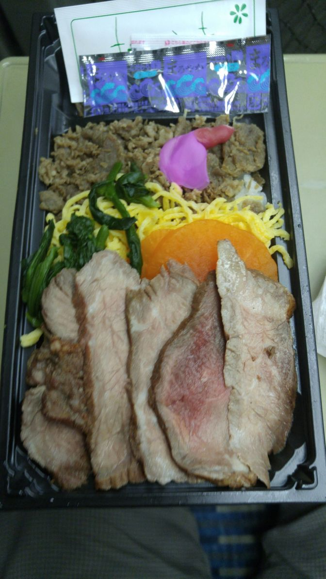 Ekiben/Japan Railway bento/Lunch Box: Takayama Station (Gifu Prefecture) Hida Beef Roast Beef Sushi!