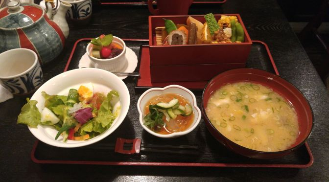 Bento Lunch at Meshiya Mizu in Shuzenji, Izu Ciy, Izu Peninsula, Shizuoka Prefecture!