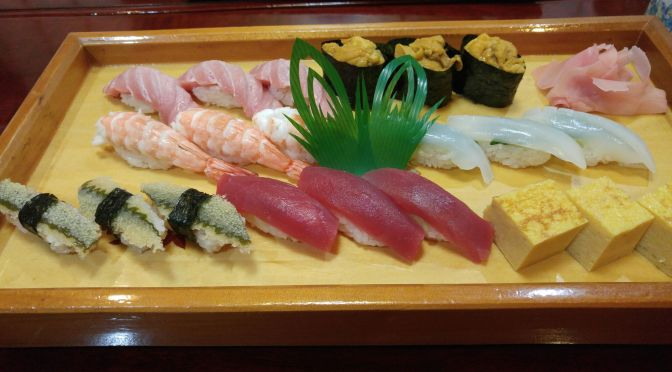 Sushi Dinner at Miyako Sushi in Shizuoka City!